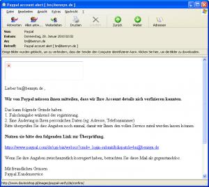 falsche paypal mails melden