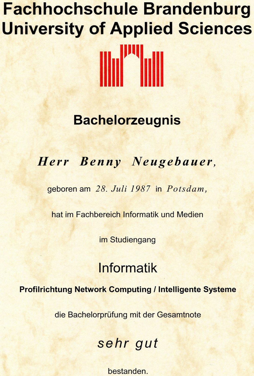 Der Blog von Benny Neugebauer